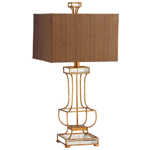 Cyan Design Cyan Design Pinkston Gold Leaf Table Lamp with Rectangle Shade 05203