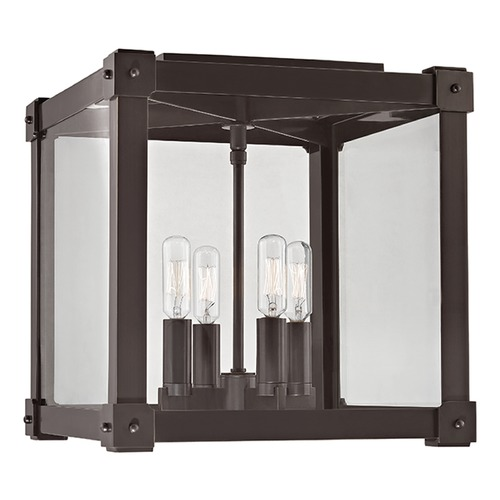 Hudson Valley Lighting Forsyth 4 Light Flushmount Light Square Shade - Old Bronze 8600-OB