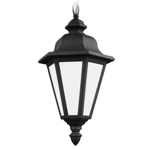 Sea Gull Lighting Sea Gull Brentwood Black Outdoor Hanging Light 6025BLE-12