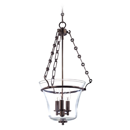 Hudson Valley Lighting Hudson Valley Lighting Eaton Old Bronze Pendant Light with Bell Shade 831-OB