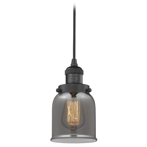 Innovations Lighting Innovations Lighting Small Bell Matte Black Mini-Pendant Light with Bell Shade 201C-BK-G53