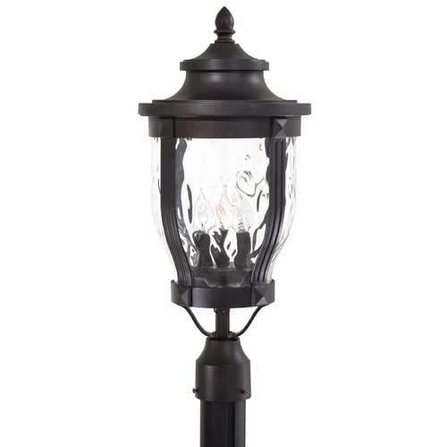 Minka Lavery Post Light with Clear Glass in Corona Bronze Finish 8765-166