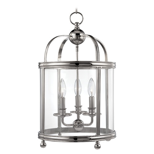 Hudson Valley Lighting Pendant Light with Clear Glass in Polished Nickel Finish 7812-PN