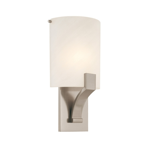 Sonneman Lighting Sconce Wall Light with Alabaster Glass in Satin Nickel Finish 1851.13F