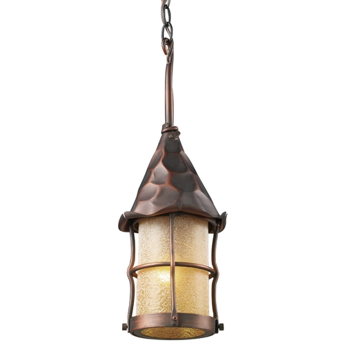 Elk Lighting Outdoor Hanging Light in Antique Copper Finish 388-AC