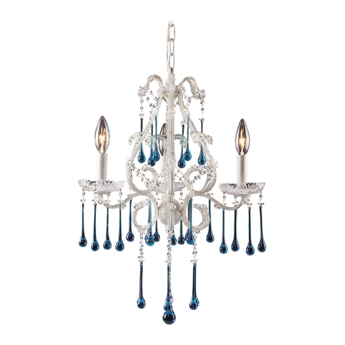Elk Lighting Mini-Chandelier in Antique White Finish 4001/3AQ