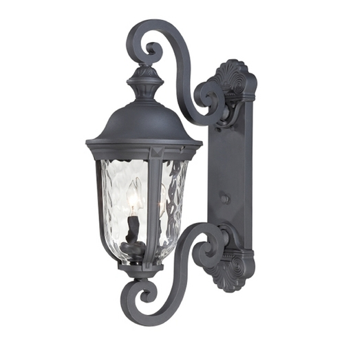 Minka Lavery Outdoor Wall Light with Clear Glass in Black Finish 8991-66