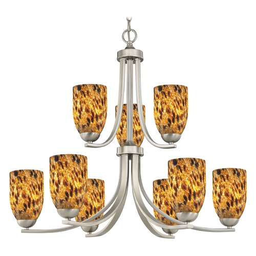 Design Classics Lighting Design Classics Dalton Fuse Satin Nickel Chandelier 586-09 GL1005D
