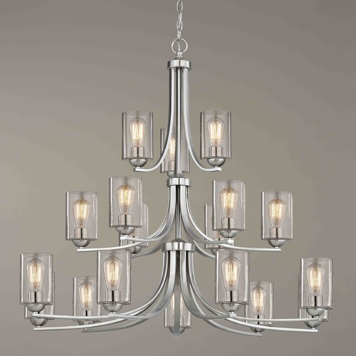 Design Classics Lighting Satin Nickel Chandelier 5863-09 GL1041C