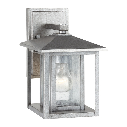 Sea Gull Lighting Seeded Glass Outdoor Wall Light Pewter Sea Gull Lighting 88025-57