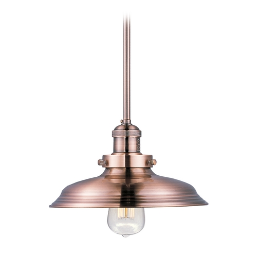 Maxim Lighting Pendant Light in Antique Copper Finish 25042ACP/BUI