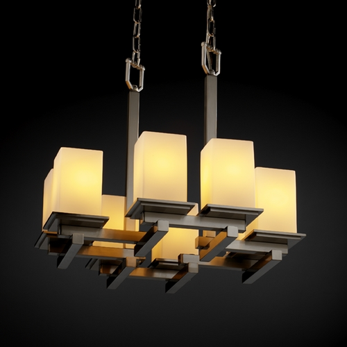 Justice Design Group Justice Design Group Fusion Collection Chandelier FSN-8670-15-OPAL-NCKL