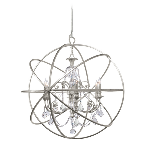 Crystorama Lighting Pendant Light in Olde Silver Finish 9219-OS-CL-SAQ