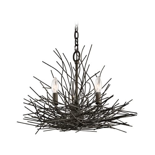Kichler Lighting Kichler Lighting Organique Olde Bronze Mini-Chandelier 42886OZ