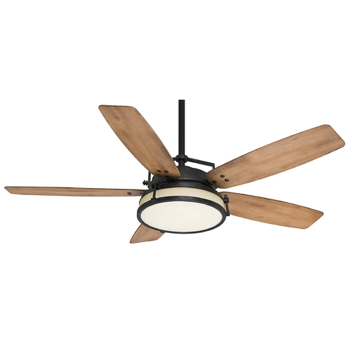 Casablanca Fan Co Casablanca Fan Caneel Bay Aged Steel Ceiling Fan with Light 59113