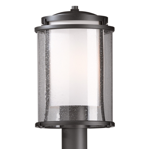Hubbardton Forge Lighting Hubbardton Forge Lighting Meridian Dark Smoke Post Light 345610-07-ZS283