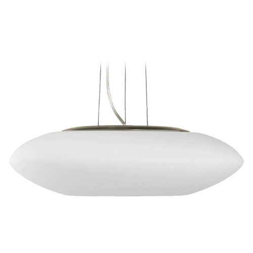 Quorum Lighting Quorum Lighting Satin Nickel Pendant Light with Oblong Shade 808-65