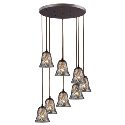 Elk Lighting Elk Lighting Oil Rubbed Bronze Multi-Light Pendant with Bell Shade 46000/8R