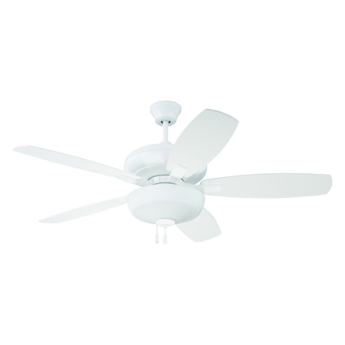 Craftmade Lighting Craftmade Lighting Forza White Ceiling Fan with Light FZA52W5C1