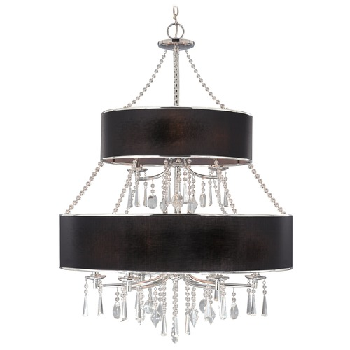 Golden Lighting Golden Lighting Echelon Chrome Crystal Chandelier 8981-9 GRM