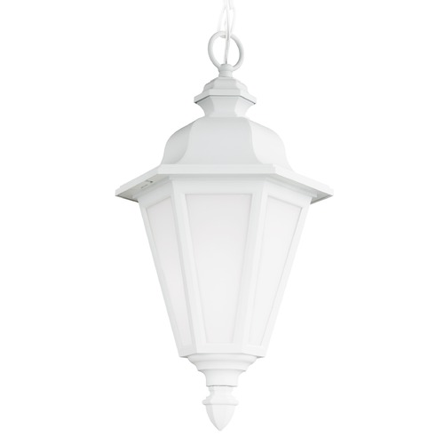 Sea Gull Lighting Sea Gull Brentwood White Outdoor Hanging Light 6025BLE-15