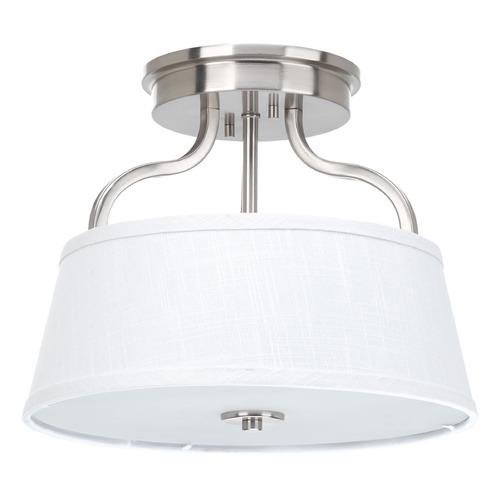 Progress Lighting Progress Lighting Arden Brushed Nickel Semi-Flushmount Light P3720-09