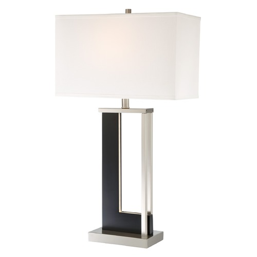 Lite Source Lighting Lite Source Theoris Dark Walnut Table Lamp with Rectangle Shade LS-23076