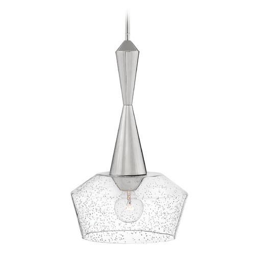 Hinkley Hinkley Bette Polished Nickel Pendant Light with Bowl / Dome Shade 4114PN