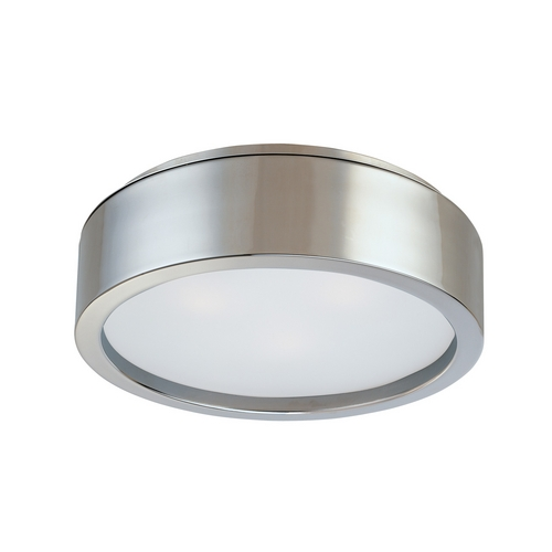 Sonneman Lighting Modern Flushmount Light with White Glass in Satin Nickel Finish 3722.13