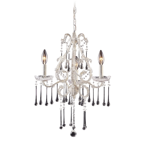 Elk Lighting Mini-Chandelier in Antique White Finish 4001/3CL