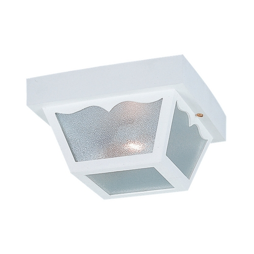 Sea Gull Lighting Close To Ceiling Light with Clear Glass in White Finish 7569-15