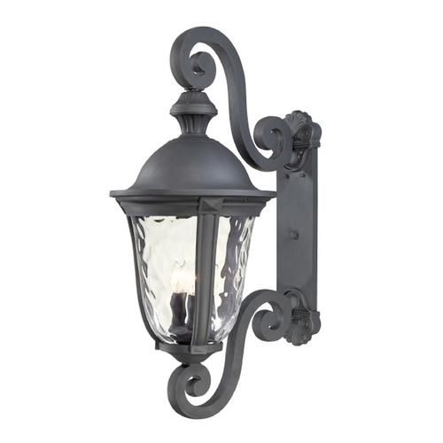 Minka Lavery Outdoor Wall Light with Clear Glass in Black Finish 8992-66
