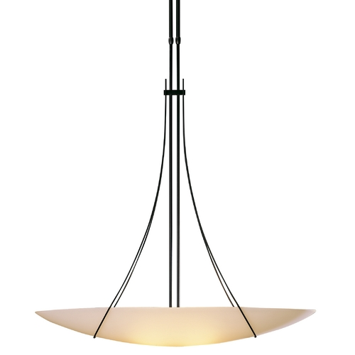 Hubbardton Forge Lighting Adjustable Oval Pendant Light in Dark Smoke 133155-07-G92