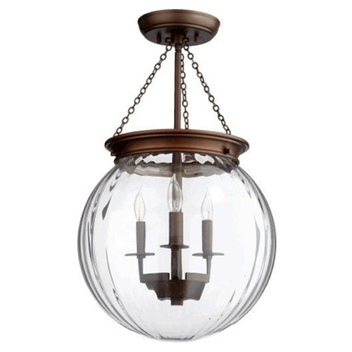 Quorum Lighting Quorum Lighting Oiled Bronze Semi-Flushmount Light 6920-3-86