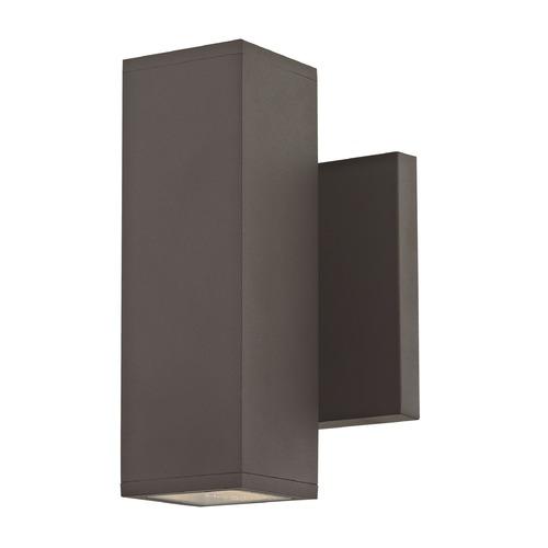 Design Classics Lighting Square Cylinder Outdoor Wall Light Up / Down Bronze 1774-BZ