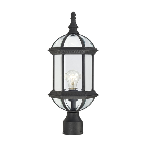 Nuvo Lighting Post Light with Clear Glass in Textured Black Finish 60/4976