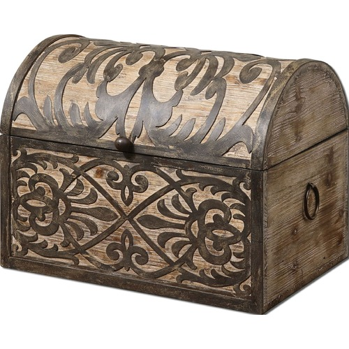 Uttermost Lighting Uttermost Abelardo Rustic Wooden Box 19709