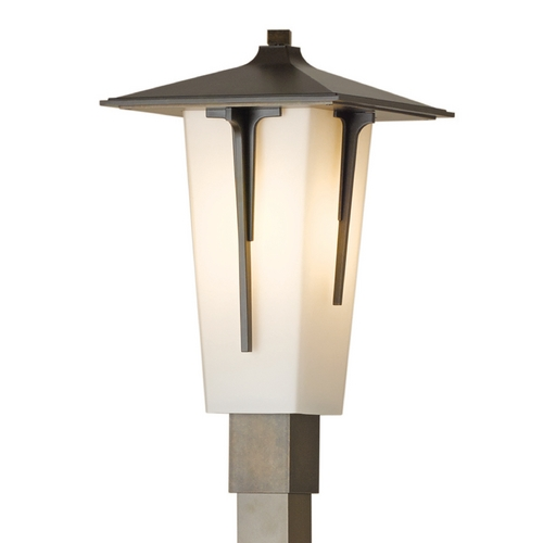 Hubbardton Forge Lighting Hubbardton Forge Lighting Modern Prairie Bronze Post Light 345715-05-G443