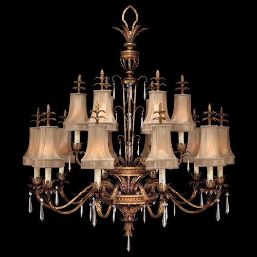 Fine Art Lamps Fine Art Lamps Pastiche Antique Gold Crystal Chandelier 428040-2ST