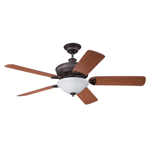 Craftmade Lighting Craftmade Lighting Gambrel Aged Bronze Brushed Ceiling Fan with Light GM56ABZ5LK