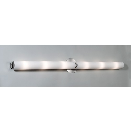 Illuminating Experiences Visual Satin Nickel Bathroom Light - Vertical or Horizontal Mounting Visual3SN