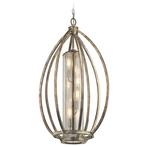 Kichler Lighting Kichler Lighting Savanna Pendant Light with Cylindrical Shade 43451SGD