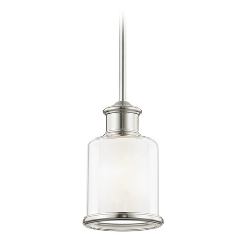 Livex Lighting Livex Lighting Middlebush Brushed Nickel Mini-Pendant Light with Cylindrical Shade 40210-91