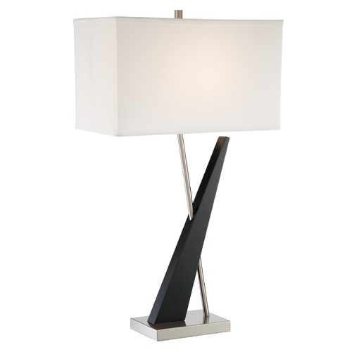 Lite Source Lighting Lite Source Viggo Dark Walnut Table Lamp with Rectangle Shade LS-23077