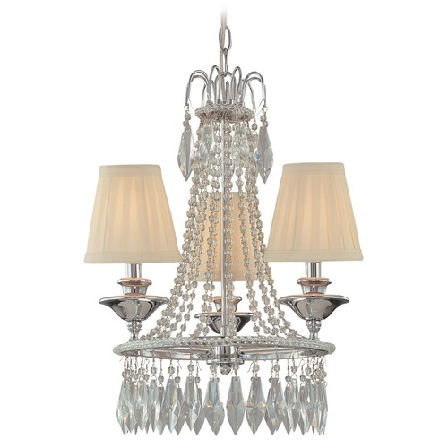 Minka Lavery Mini-Chandelier with Beige / Cream Shades in Chrome Finish 3132-77