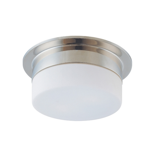 Sonneman Lighting Modern Flushmount Light with White Glass in Polished Nickel Finish 3741.35