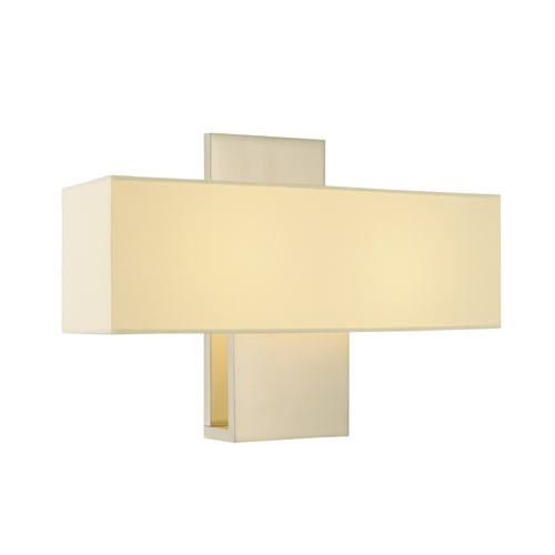 Sonneman Lighting Modern Sconce Wall Light with White Shade in Satin Nickel Finish 1861.13F
