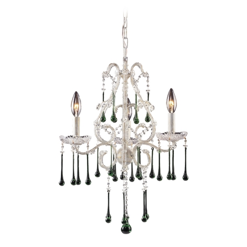 Elk Lighting Mini-Chandelier in Antique White Finish 4001/3LM