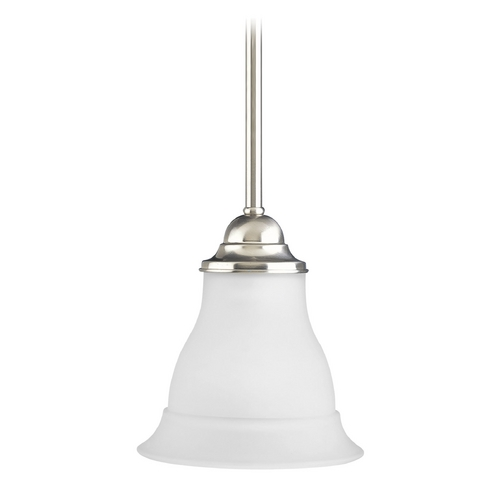 Progress Lighting Progress Mini-Pendant Light with White Glass P5096-09