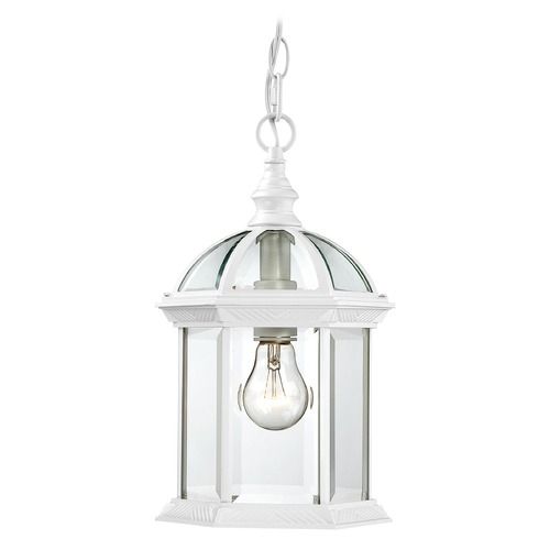 Nuvo Lighting Outdoor Hanging Light with Clear Glass in White Finish 60/4977